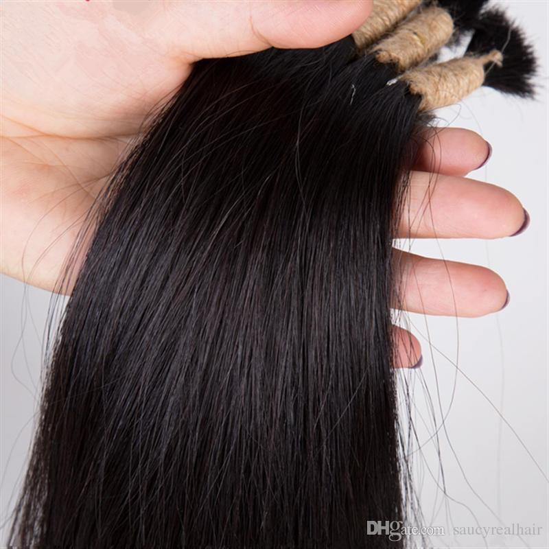 Yüksek kaliteli Brezilyalı Saç 100g İnsan Saç Örgüler Toplu Hiçbir Atkı Düz dalga, Doğal Renk 100g paket 2 Demetleri tek Lot, Ücretsiz DHL