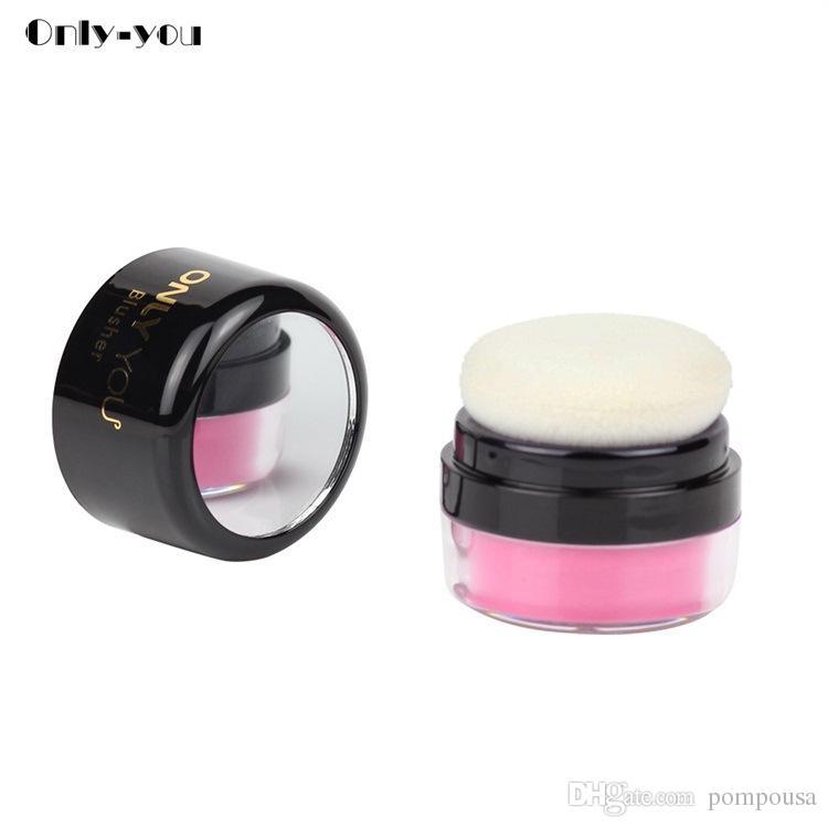 Stereo Brightening Matte Blush Mushroom Head Peach Pink Mirror Repairing Rouge Powder 5g Beauty Makeup Tool