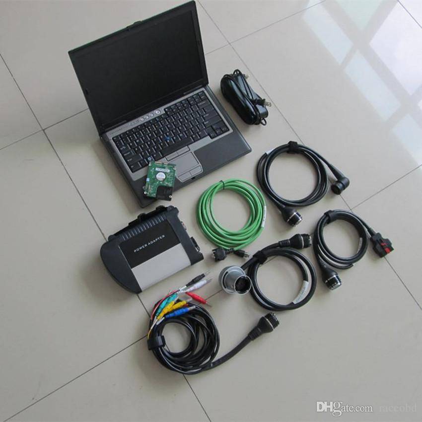 2020 para a mercedes sd connect c4 para mb ferramenta de diagnóstico star com 320gb hdd com d630 laptop garantia de 3 anos