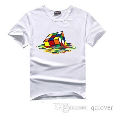 The Big Bang Theory T-Shirt Geschmolzener Würfel Männlich Rundhals Kurzarm T-Shirt