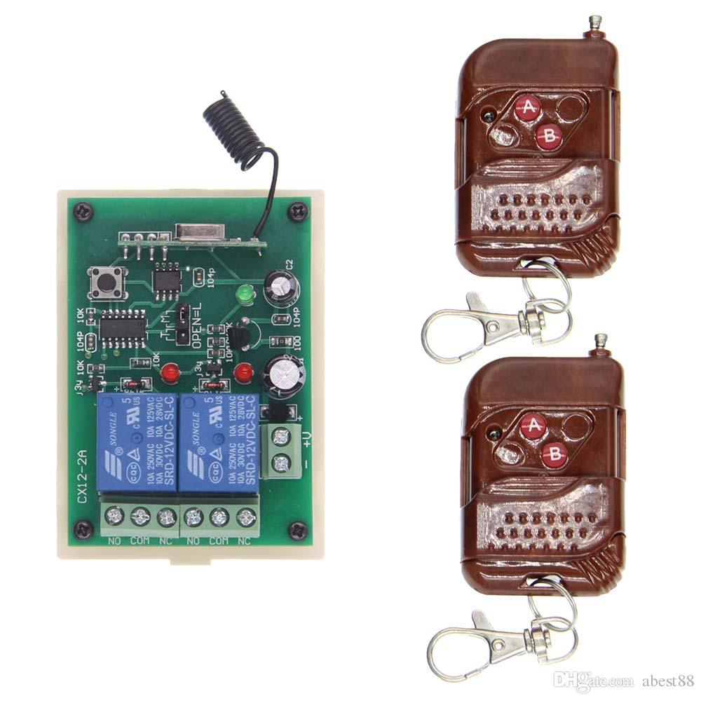 DC 12V 24V 2 CH 2CH RF Kablosuz Uzaktan Kumanda Anahtar Sistemi, / 433 315 MHz Şeftali Verici Alıcı, Anlık