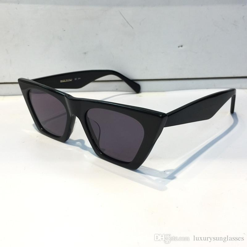 41468 gafas de sol para la protección de las mujeres de la manera popular UV marco del ojo de gato de calidad superior viene con el paquete 41468S negro blanco verde rosa azul