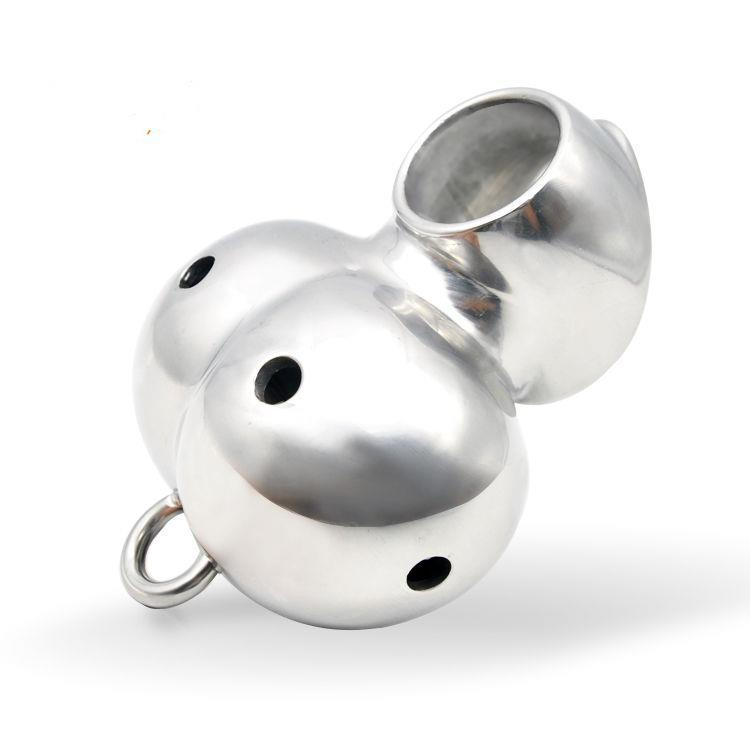 316L Stainless Steel Male Chastity Device Cage Ball Stretcher Enhancer Protector #R47