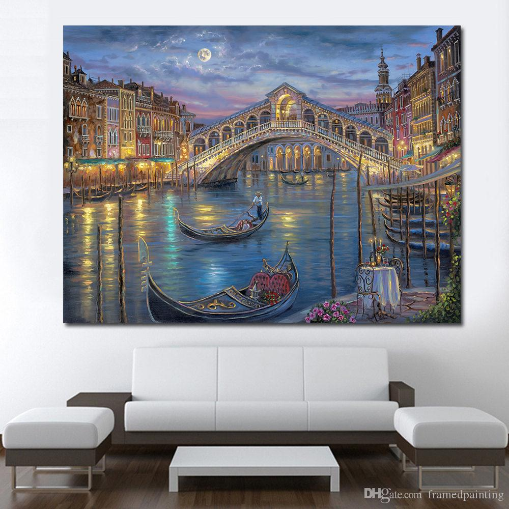 Living Room Modern Venice On The Grand Canal Wall Art Painting Picture Home Decor Canvas Print No Frame Wall Art Canvas No Frame