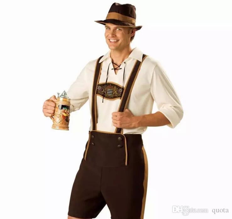 Halloween Hommes Vêtements Adulte Hansell Munich Festival De La Bière Bavière Allemande Bière Cosplay Costumes d'Halloween