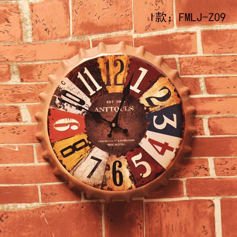 "New arrival Tin Sign""ANTTQUES"" Vintage Metal Painting Beer Cap Wall Clock Bar pub Wallpaper Decor Retro Mural Poster Craft"