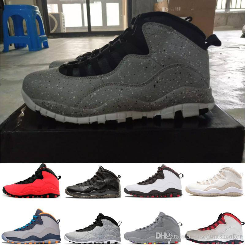 hot sale Cheap Cement 10s mens basketball shoes colors Westbrook Cool Grey red 10 men sports trainers shoes sneakers size US 8-13