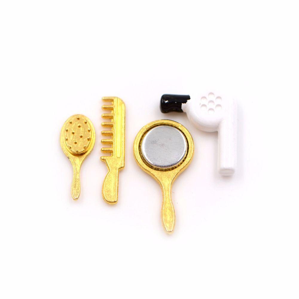 1//12 Miniatura Specchio Pettine Asciuga Accessori Bagno Casa Delle Bambole
