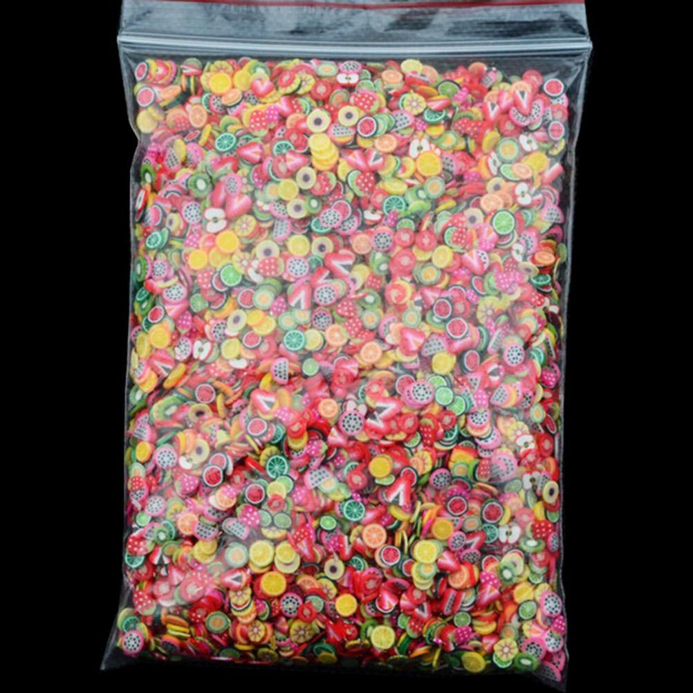 1000 teile / paket Nail Art 3D Obst Fimo Scheiben Polymer Clay DIY Scheibe Dekoration Nagel Aufkleber Gemischte Stype für Wahl freies verschiffen