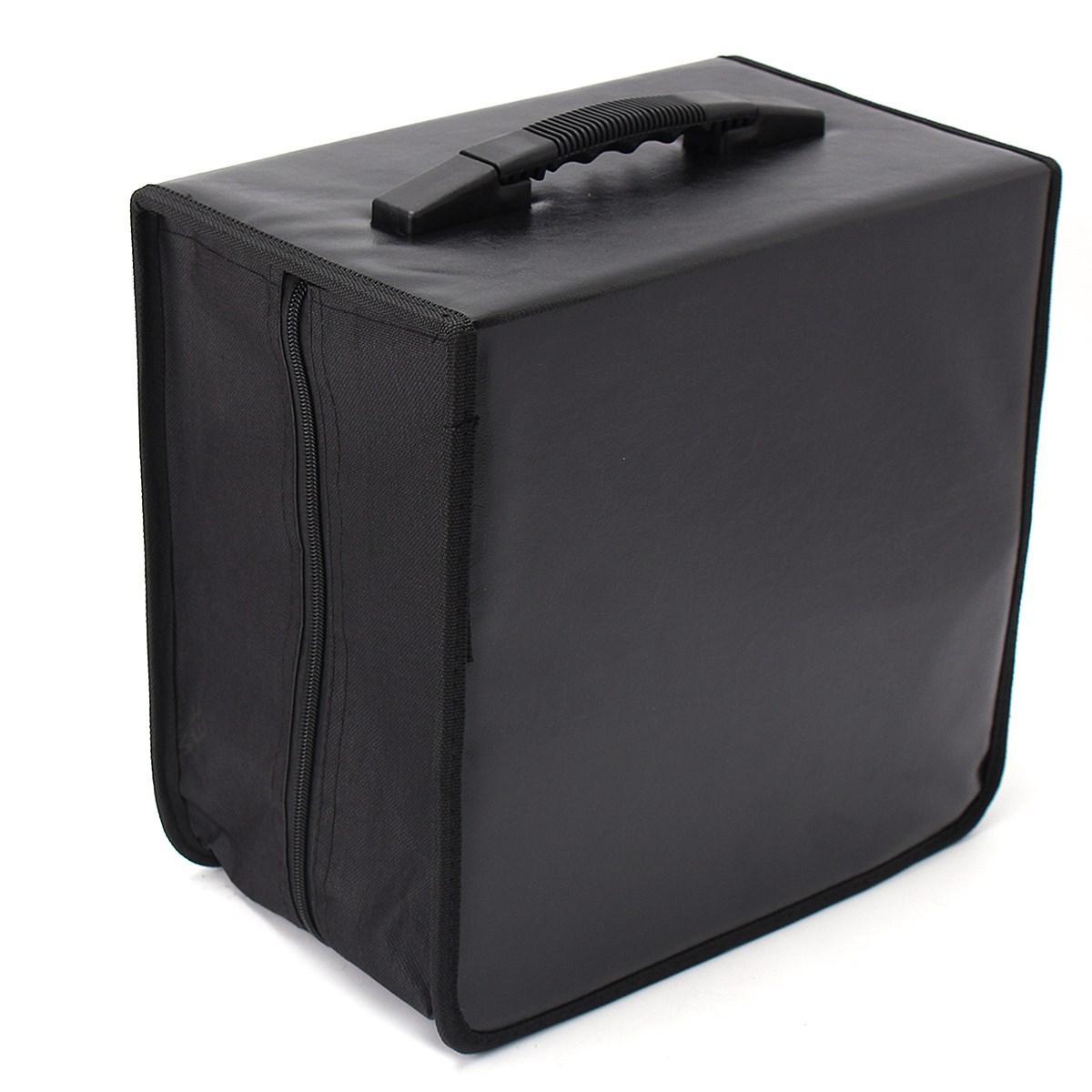 Оптовая торговля-карманный 520 DVD кошелек сумка для хранения кейс организатор медиа-продукты Черный искусственная кожа диски ящик для хранения аксессуары
