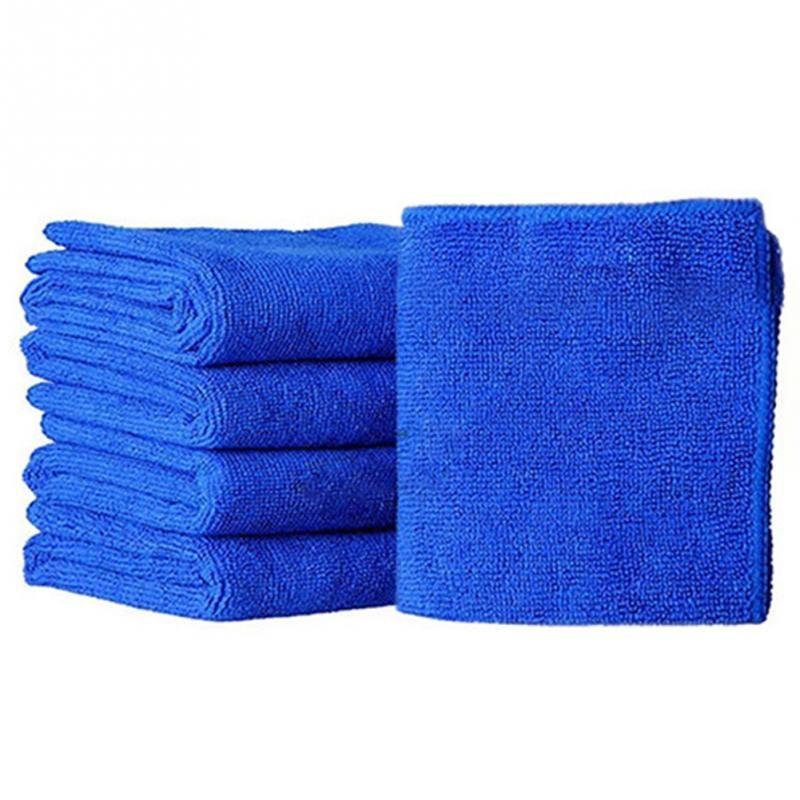 20 sztuk Myjnia Samochodów Ręcznik 25cm X 25 CM Mikrofibre Czyszczenie Auto Samochodów Detalowanie Miękkie Tkanki Wash Ręcznik Duster Niebieski Promocja Niska cena