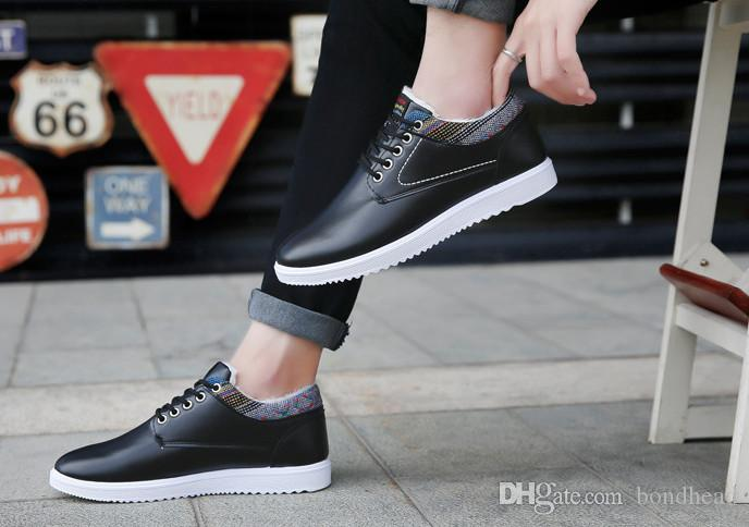 Wholesale cheapest cotton shoes and winter men's casual shoes trend of Korean winter warm waterproof shoes with top quality