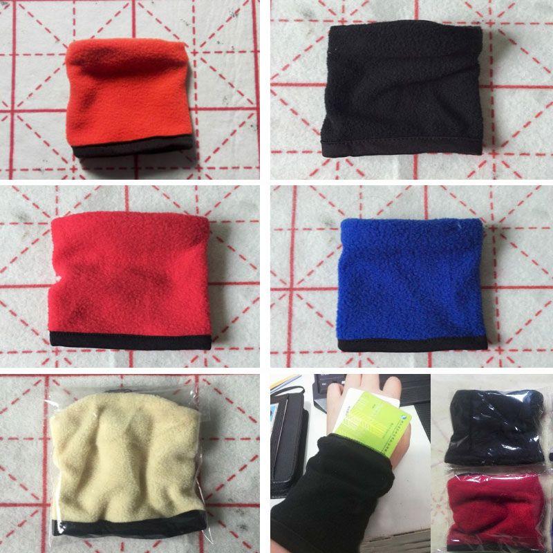 Fleece Wallet Wrist Band Zipper Wallet For Gym Sport Outdoor Travel Hiking Key Case Change Sweat-absorbent Wrist Band Storage Bags HH7-1764