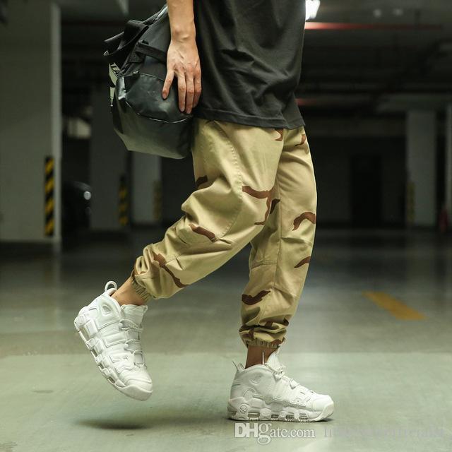 Yaz Kamuflaj Kargo Pantolon Ayak Lokomotif Moda Pantolon Streetwear erkek Vahşi Hip Hop Pantolon Abd Boyut S-XL