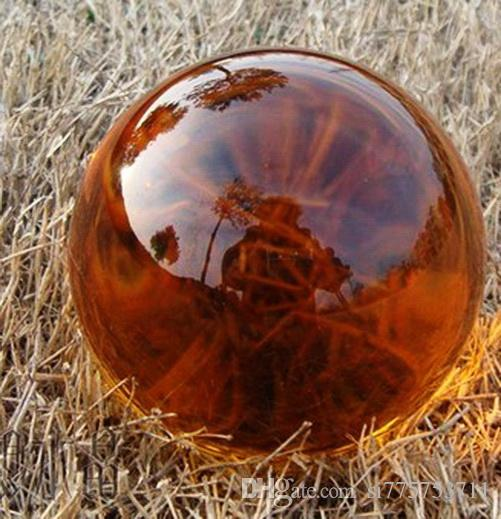 Азии редких природных кварцевые желтый магический кристалл исцеление мяч сфера 100 мм+подставка