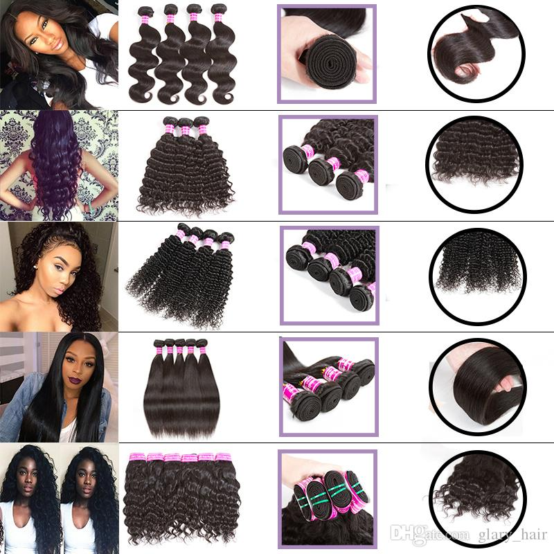 Peruvian Straight And Curly Human Hair Bundles Water Wave Body Wave Weaves Grade 8a Virgin Hair Deep Wave Kinky Curly Human Hair Extensions