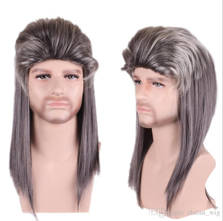 ZhiFan cosplay wigs for men cosplay wigs sale fluffy men wigs dark hair for Halloween Party Cos costume