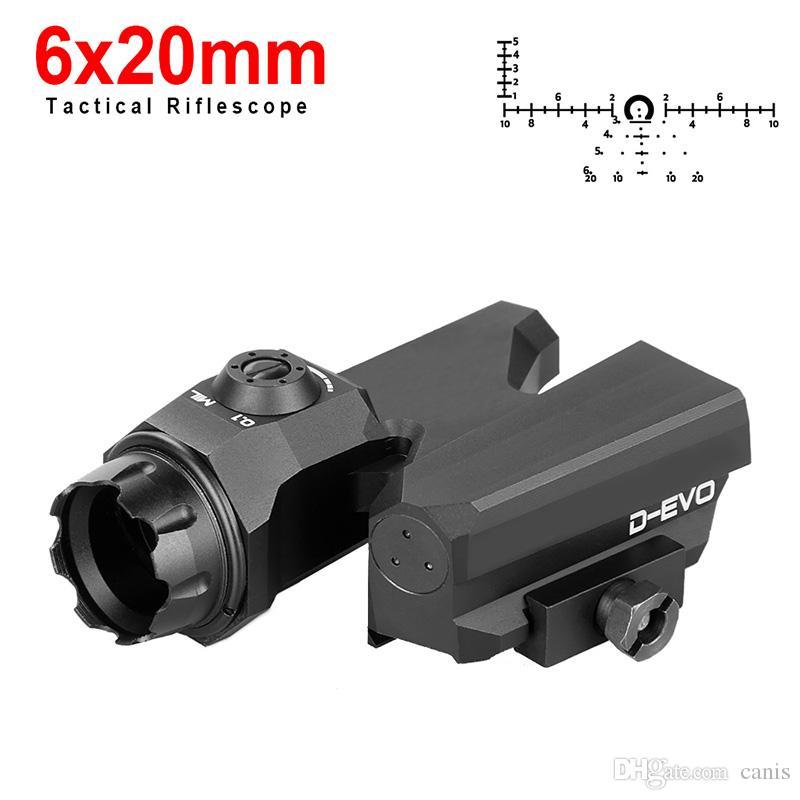 PPT D-EVO 6x20mm Охотничьи Рифлесcope Зрение Рефлекс Прицел винтовки для охоты стрельба Открытые достопримечательности CL2-0121