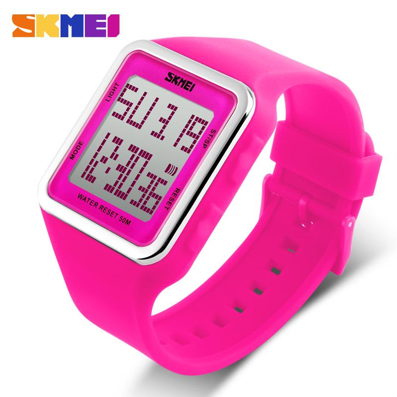 SKMEI Outdoor Sports Watch Frauen Männer Kinder Digital LED Alarm Chrono Wasserdicht Kalender Armbanduhr für Kinder Geschenk 1139