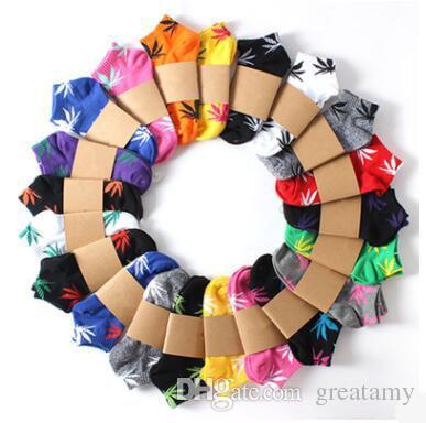 القيقب ورقة الجوارب النساء الرجال القطن الجوارب الرياضية ماركة جميل سيدة حزب الفتيات جورب مزيج الألوان