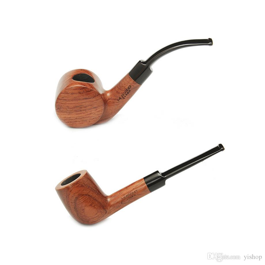 Hot Rosewood Smoking Pipes Classic Resin Carved CigaretteTobacco Cigar Pipe for Smoking hand pipe Portable Spoon Pipe Detachable