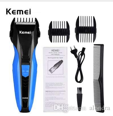 Kemei قابلة للشحن الشعر المقص الرجال الكهربائية المهنية قادين الشعر ماكينة حلاقة اللحية الحلاقة آلة قطع كيت العناية بالوجه