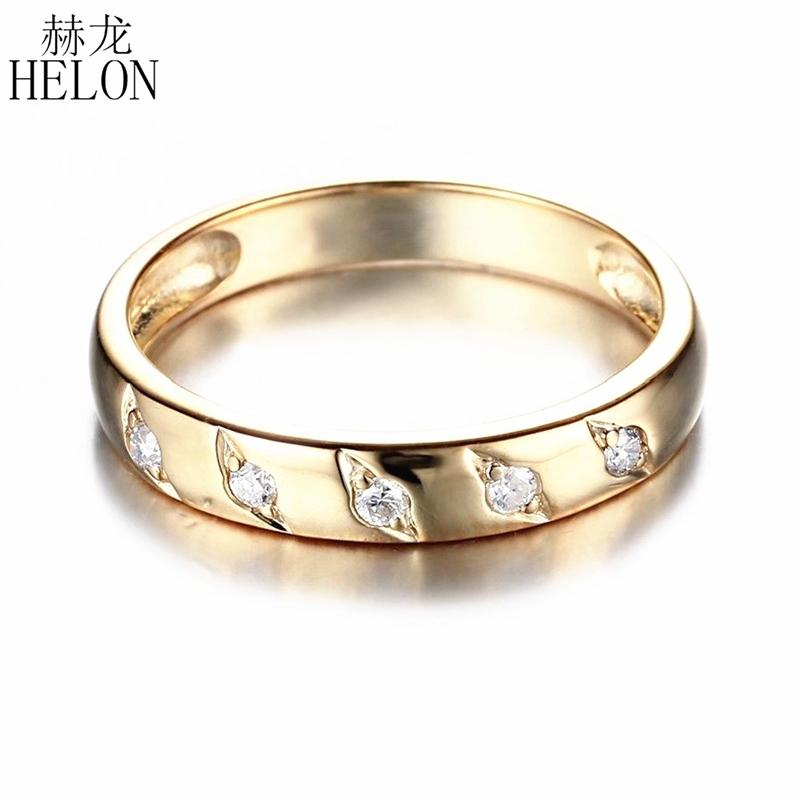 Fine Jewelry Silver SI//H Natural Diamond Sapphire Engagement Wedding Band Ring