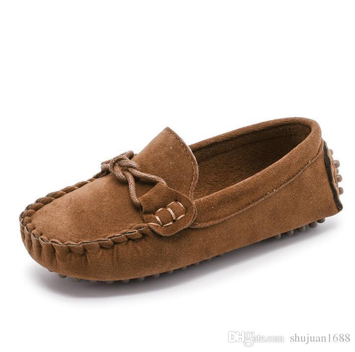 لينة المطاط الطفل حذاء طفل ربيع الخريف الفتيان المتسكعون الفتيات الأخفاف الأحذية الصلبة الألوان الأطفال عارضة الانزلاق على الأحذية حجم 21-35