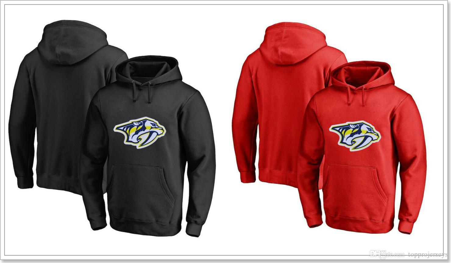 Nashville Predators Mens Vintage Ice Hockey Shirts Sweatershirts Uniforms Hoodies Stitched Embroidery Blank Cheap Sports Jerseys For Sale