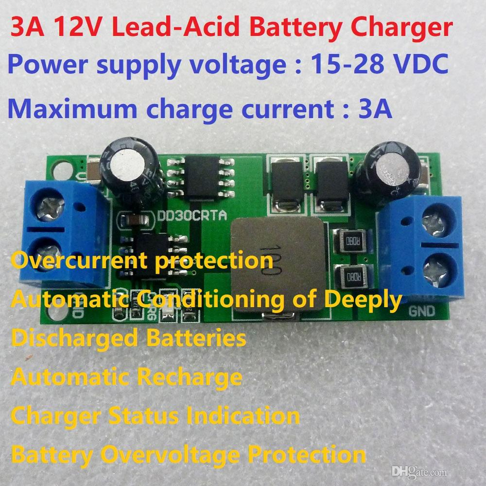 3A Lead-Acid Battery Accumulator 12V Storage Cell Charger Module UPS Car Solar