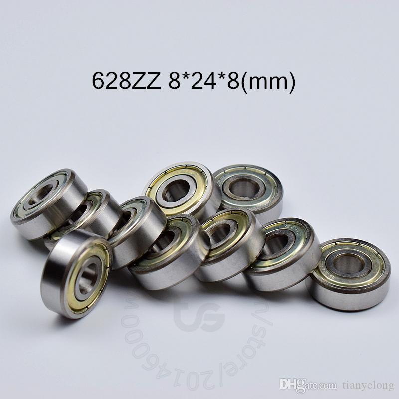 628ZZ bearings10pcs металла Запечатанный Миниатюрный Мини подшипник бесплатную доставку 628 628Z 628ZZ 8 * 24 * 8 мм хромированная сталь радиальный подшипник