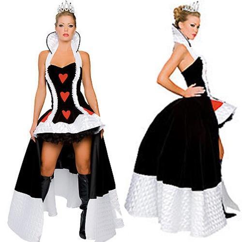 Compre S Xxxl Tallas Grandes Disfraz De Alicia En El Pais De Las Maravillas Disfraces De Halloween Poker Adulto Disfraz De Reina Roja De Corazones Disfraz De Reina De Fiestas De Carnaval