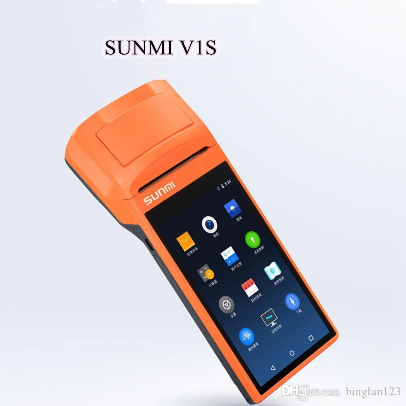 V1S Android5.1 OS Портативный термопринтер Тепловой беспроводной Bluetooth Wi-Fi Android КПК 3G Распределение продуктов