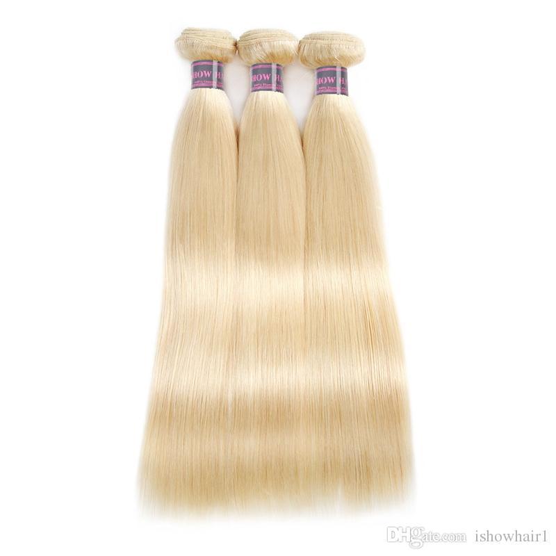 Neue Ankunfts-Produkte 613 Blonde bündelt peruanische gerade menschliche Haar-Erweiterungen 10inch bis 28inch Remy brasilianische Haar-Webart-freies Verschiffen