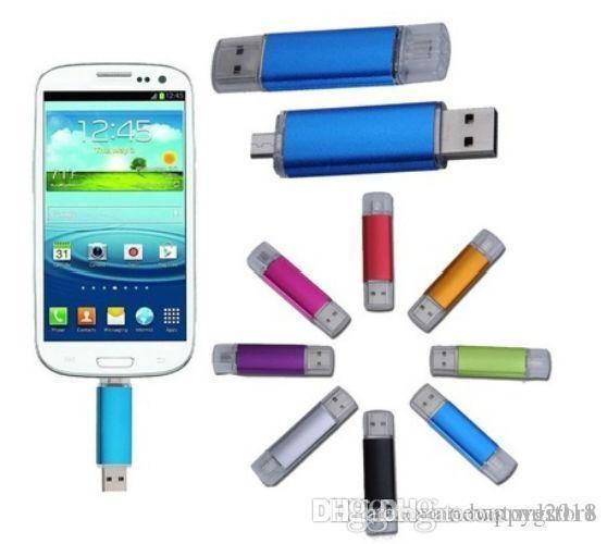 U52 8 COLOURS Smart Phone PC USB Flash Drive Pen 32GB 64GB 128GB Mini Usb OTG External Storage Micro Usb Memory Stick Pen Drive Pendrive 4GB