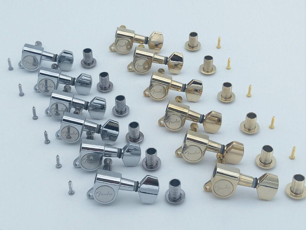 6R 기타 튜닝 PEGS 튜너 기계 헤드 부품 포함 로고