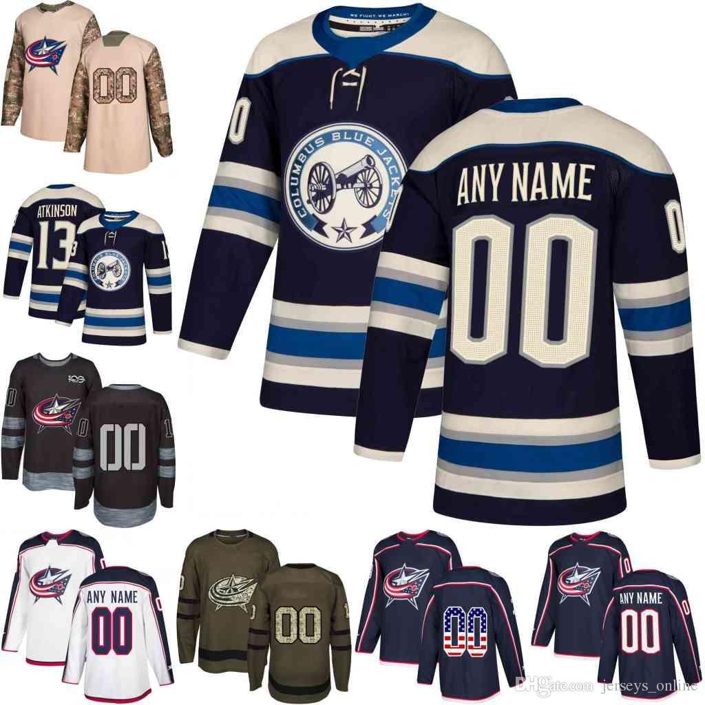 2019 Navy Alternate Custom Mens Women Youth Columbus Blue Jackets Cam Atkinson Nick Foligno Sergei Bobrovsky hockey Jerseys stitched S-3XL