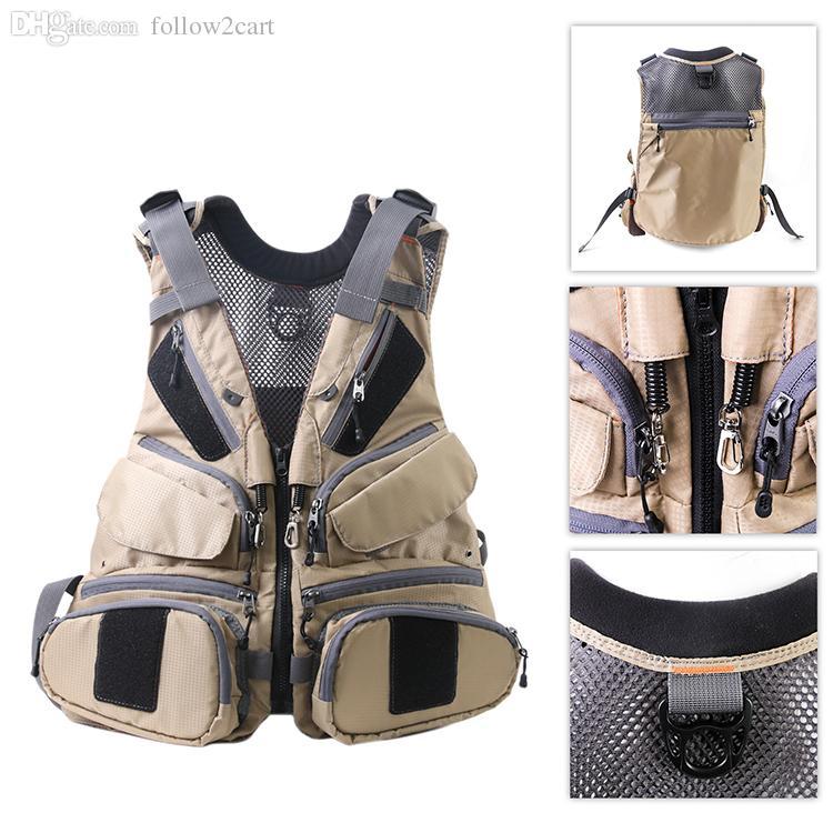 Multifunctional Spring Summer Men Fishing Vest Outdoor Hiking Camping Jacket Breathable Back Mesh Pocket Fly Vest
