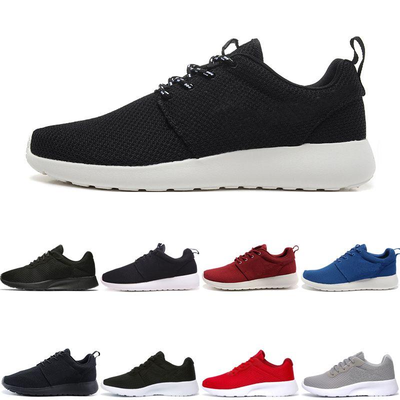 Nike Air Roshe run one Tanjun Venta caliente Run Running Shoes para hombres mujeres triple negro bajo ligero transpirable London Olympic mujeres hombres Sports designer Sneaker chaussure