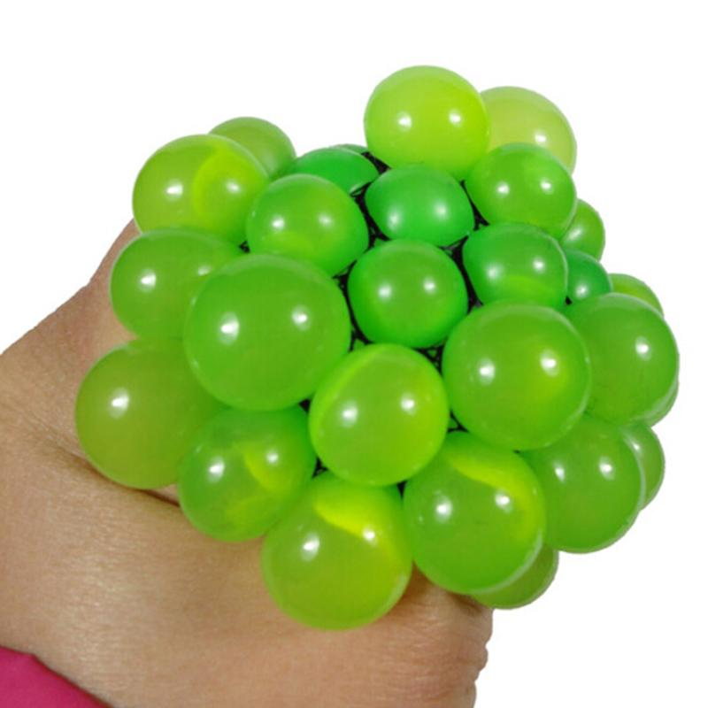 Funny Toys 5CM Antistress Face Reliever Grape Ball Autism Mood Squeeze Relief Healthy Toys Funny Geek Gadget for Halloween Jokes