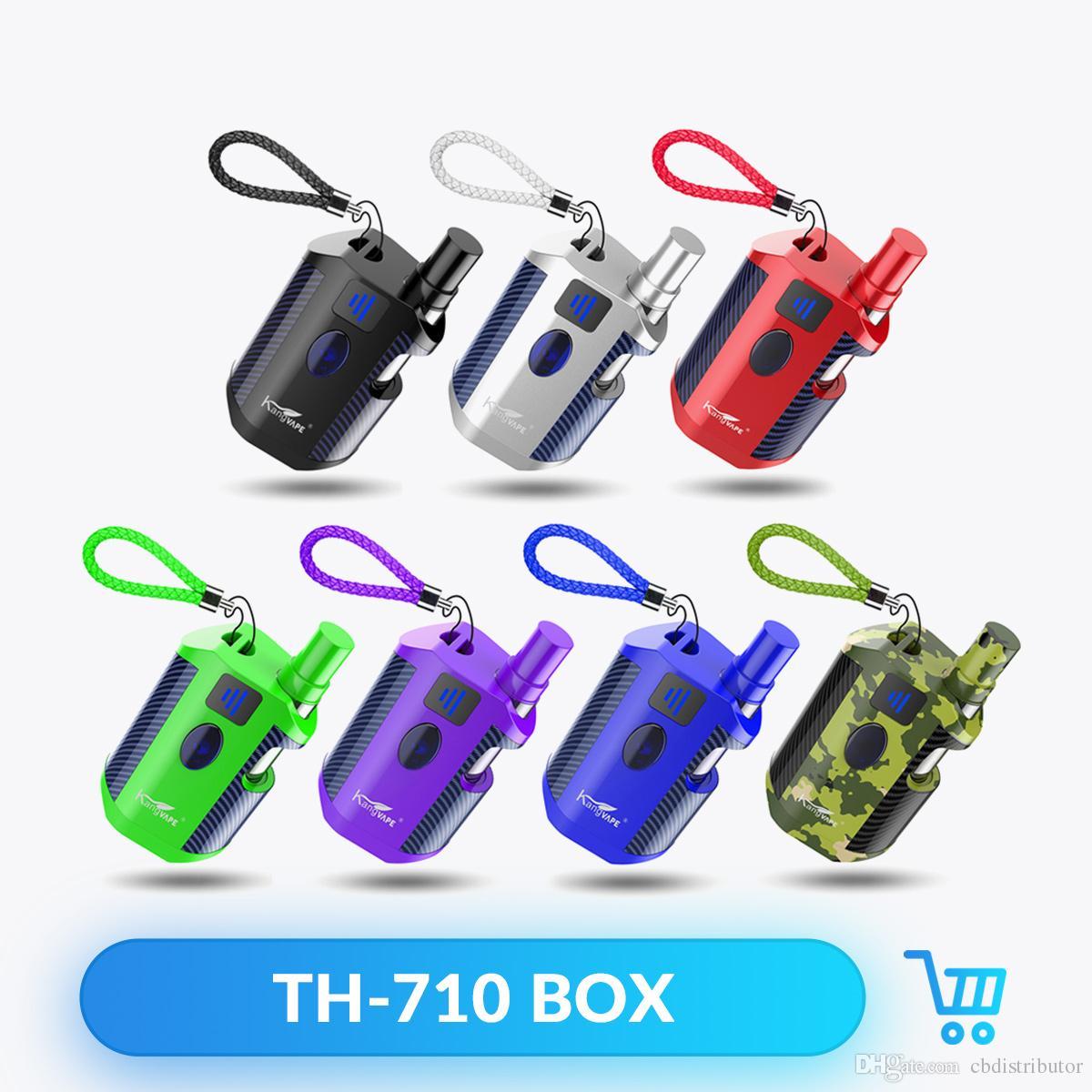 Orijinal Kangvape TH710 Kiti 650 mAh Ön Isıtma VV Değişken Gerilim TH-710 Pil Kutusu Mod 0.5 ml Kalın Yağ Kartuşları