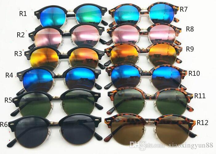 High Quality Fashion Round Sunglasses Mens Womens Designer Brand Sun Glasses Gold Metal Black Dark 50mm Glass Lenses Better Black Case 4246
