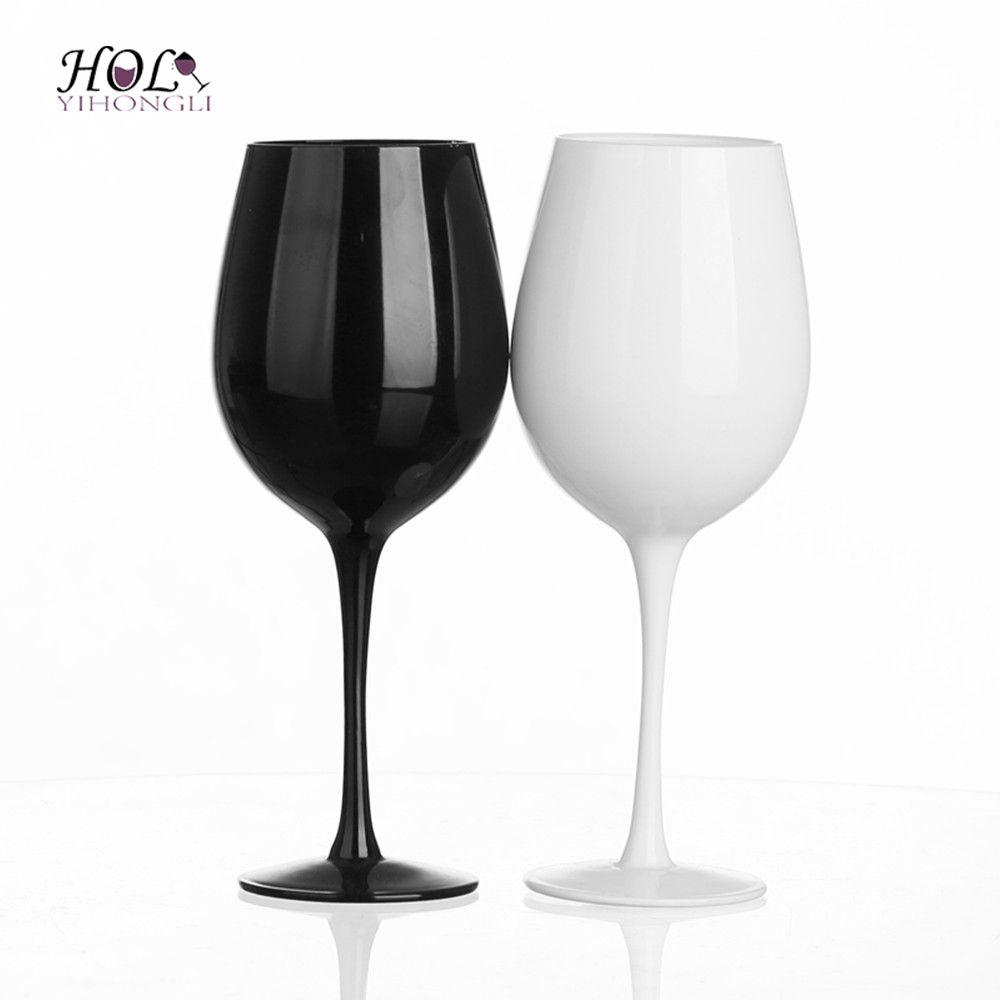 Schwarz und Weiß Günstige Rotweinglas Set Becher Set für Zuhause / Barware