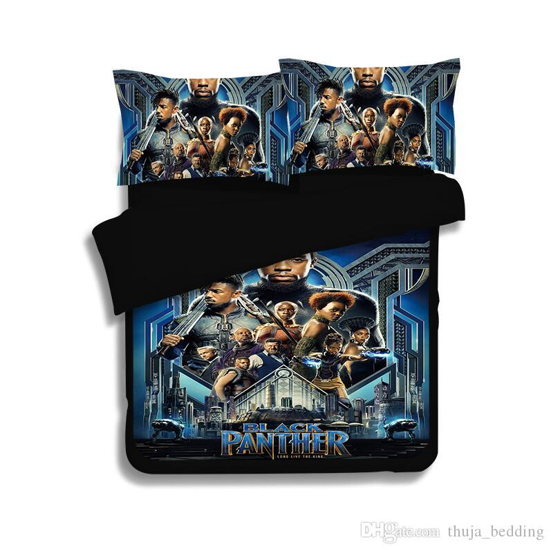 3D BLACK PANTHER LUXURY PRINTED DUVET COVER BEDDING SET PILLOW CASE ALL SIZES