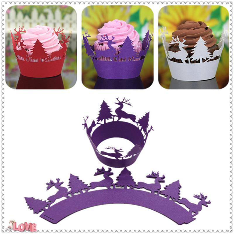 100 قطعة / الحزمة بطانات الكعك الخبز كأس المنزل المطبخ خبز كعكة أدوات البسيطة ورقة المجمع cupcake حالة الزفاف 6ZC28