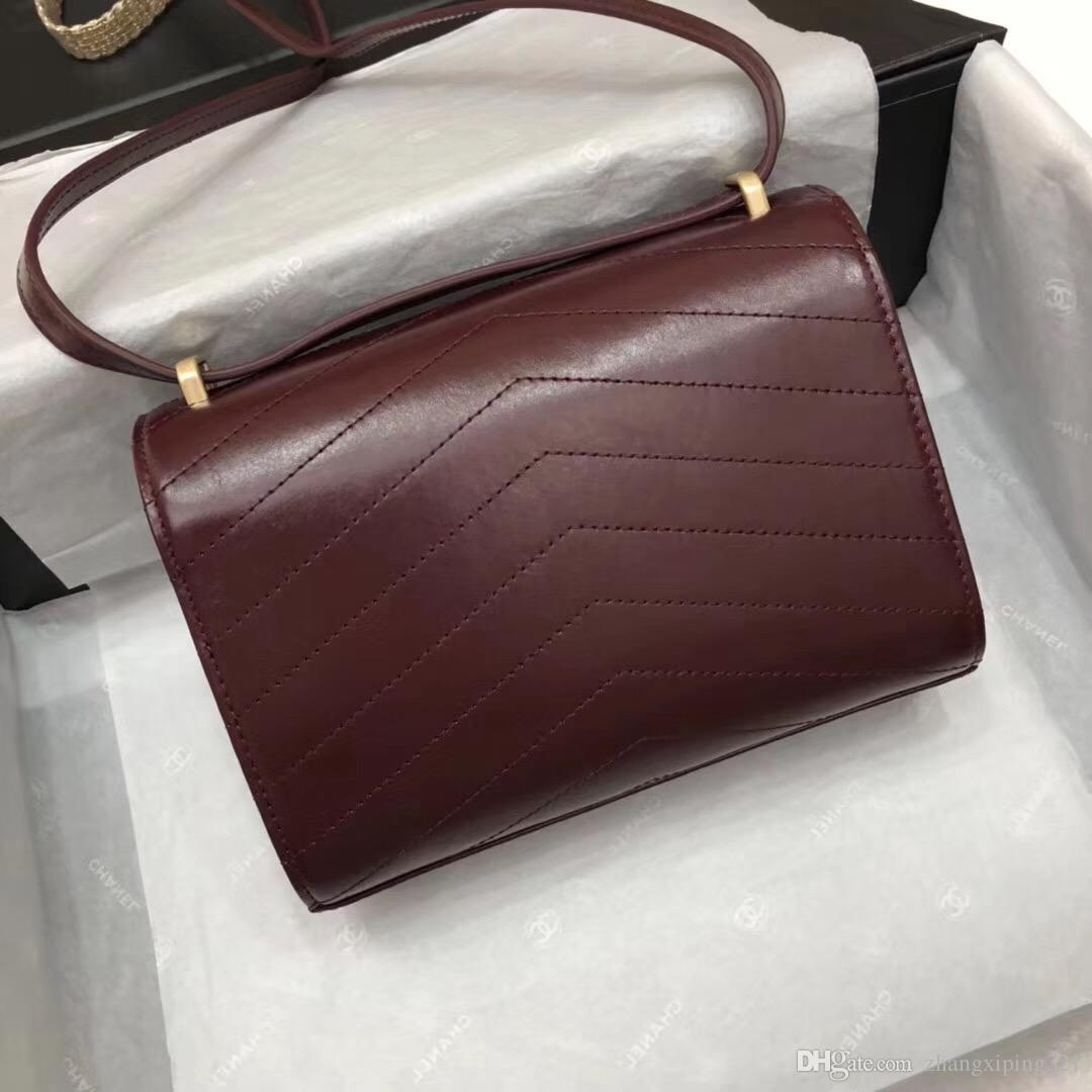Новый стиль высокое качество 26 см женская мода Марка дамы сумки сумки сумки Сумки на ремне сумки Messenger креста тела сумки кожаные сумки золотая цепь