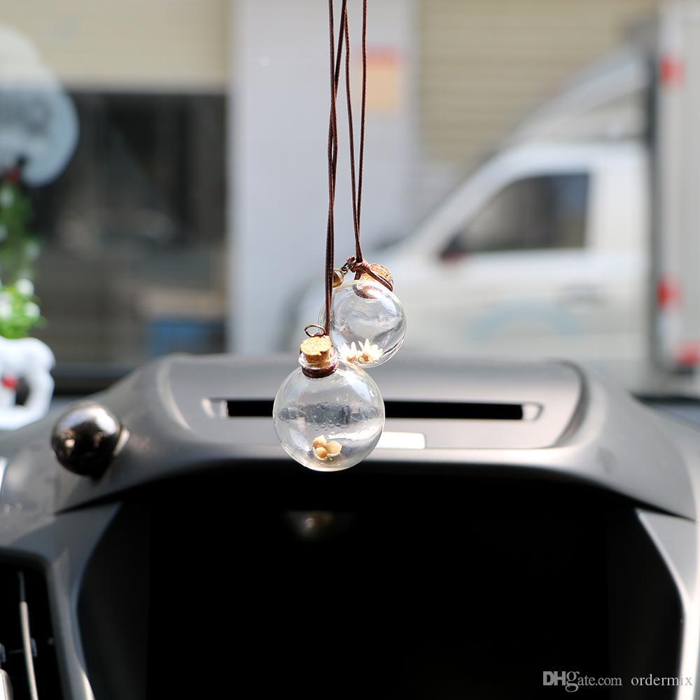 Butelka perfum samochodowych pusta butelka wiszące do olejków eterycznych perfum wisiorek auto ornament z odświeżaczem kwiatów
