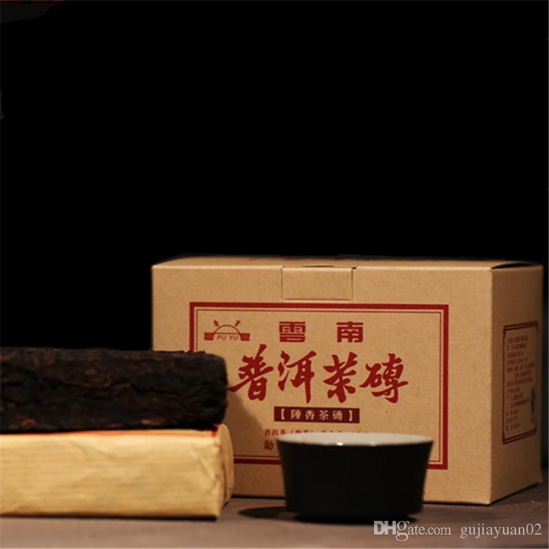 100g promoção Yunnan doce mel Dull-vermelha madura Puer tijolo creme Organic árvore velha Tea Natural Pu'er cozido Pu'er Tea tijolo