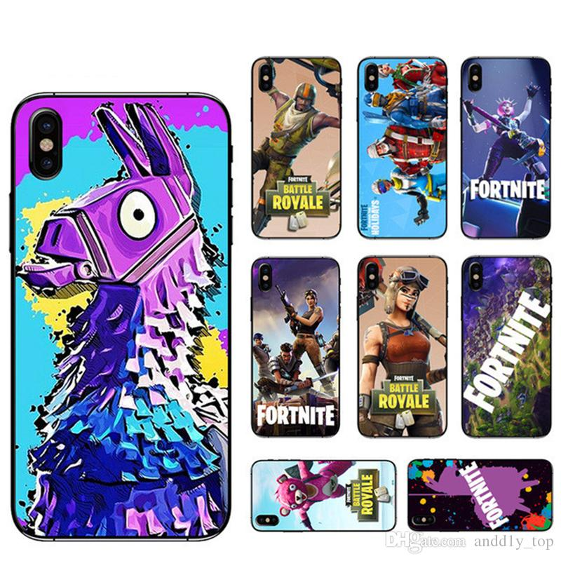 Fortnite phone case cover for iphone x 8 7 plus 6s Hot FPS game designer cell phone protector Soft TPU PC back cover