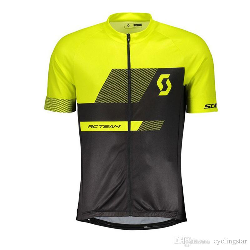 2019 Men SCOTT Team cycling outfits Summer cycling jersey bike shirts summer breathable short sleeve road bicycle tops sportswear Y052001